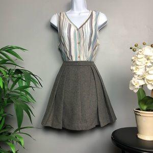 Vineyard Vines Pleated Gray Womens Skirt